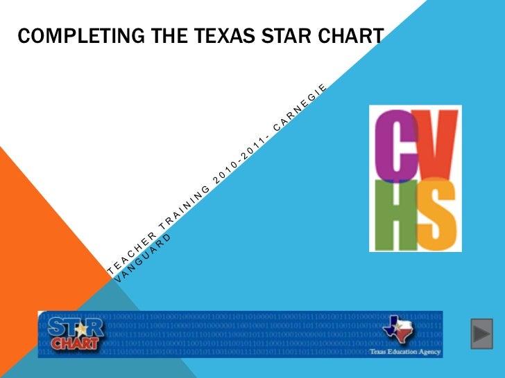 Completing the Texas STaRChart<br />Teacher Training 2010-2011- Carnegie vanguard<br />