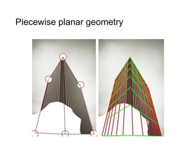 Piecewise planar geometry