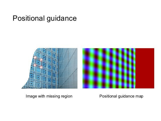 Positional guidance    Image with missing region   Positional guidance map