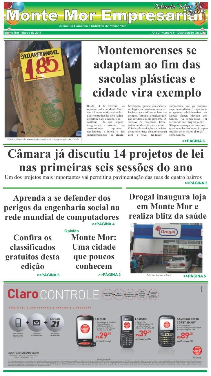 Monte Mor Empresarial                         Jornal do Comércio e Indústria de Monte MorMonte Mor - Março de 2011        ...