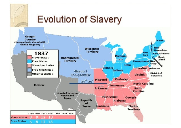The Slavery In The USA - Map of slavery in the us