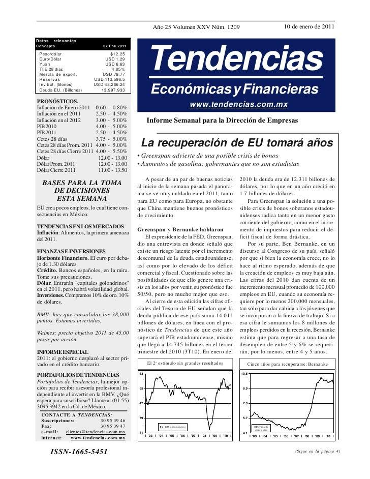 Año 25 Volumen XXV Núm. 1209                                              10 de enero de 2011DatosConcepto        relevant...