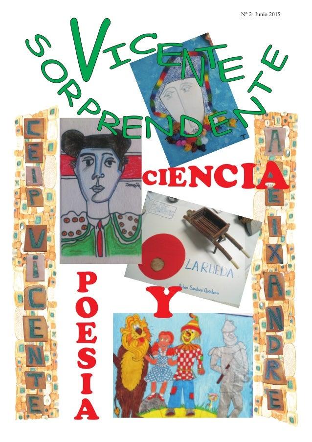 VI C Nº 2- Junio 2015 E EN CIENCIA Y P O E S I A T
