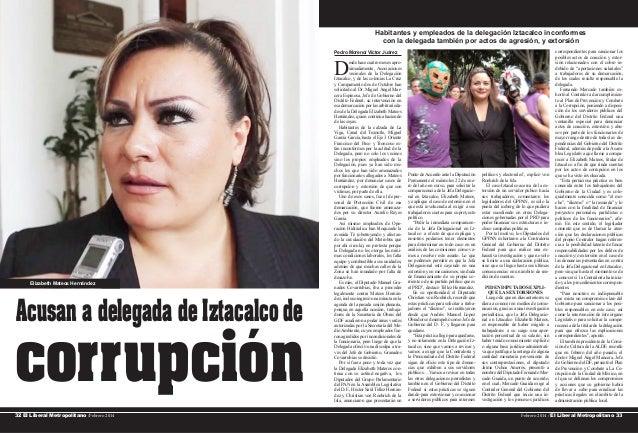 Habitantes y empleados de la delegación Iztacalco inconformes con la delegada también por actos de agresión, y extorsión P...
