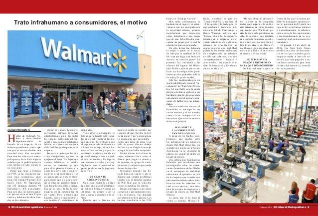Trato infrahumano a consumidores, el motivo  Joaquín Morgado E  H  ablar de Walmart, Aurrera y otras tiendas departamental...