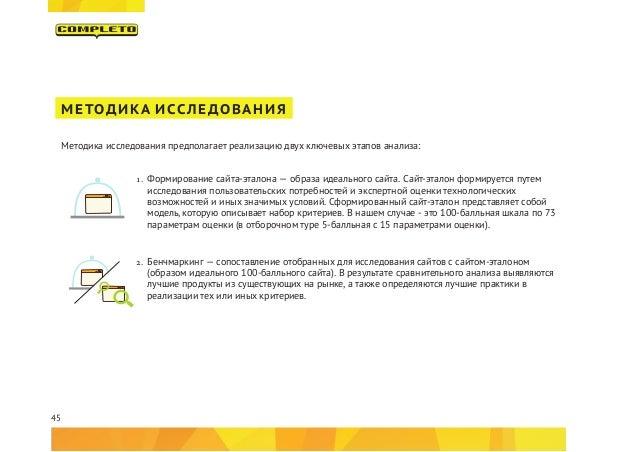 45 МЕТОДИКА ИССЛЕДОВАНИЯ Методика исследования предполагает реализацию двух ключевых этапов анализа: 1. Формирование сайт...