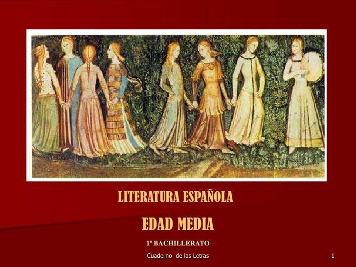 Completo ppt de literatura española medieval