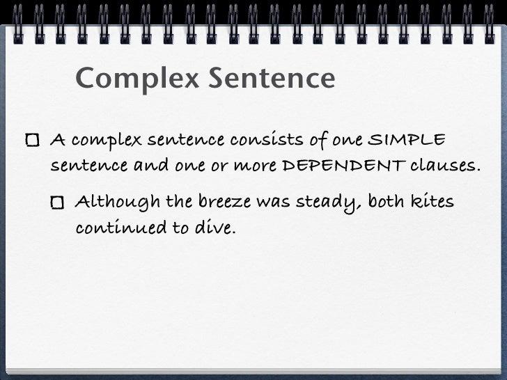 simple compound complex sentences