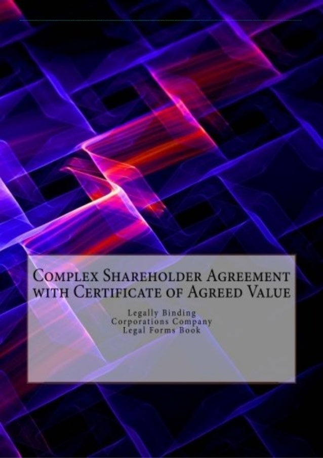 (PDF) Complex Shareholder Agreement with Certificate of Agreed Value: Legally Binding - Corporations Company - Legal Forms...