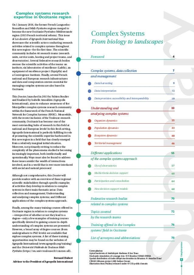 Complex systems - For biology to landscapes Slide 3