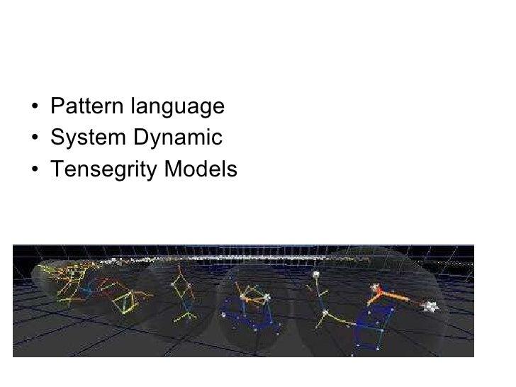 <ul><li>Pattern language </li></ul><ul><li>System Dynamic </li></ul><ul><li>Tensegrity Models </li></ul>