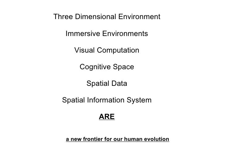 Three Dimensional Environment Immersive Environments Visual Computation Cognitive Space Spatial Data Spatial Information S...