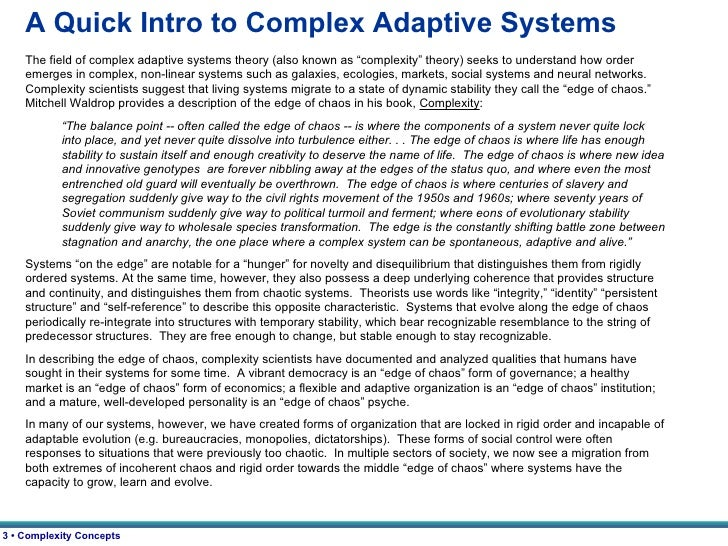 complex adaptive systems theory  adaptive systems theory 3