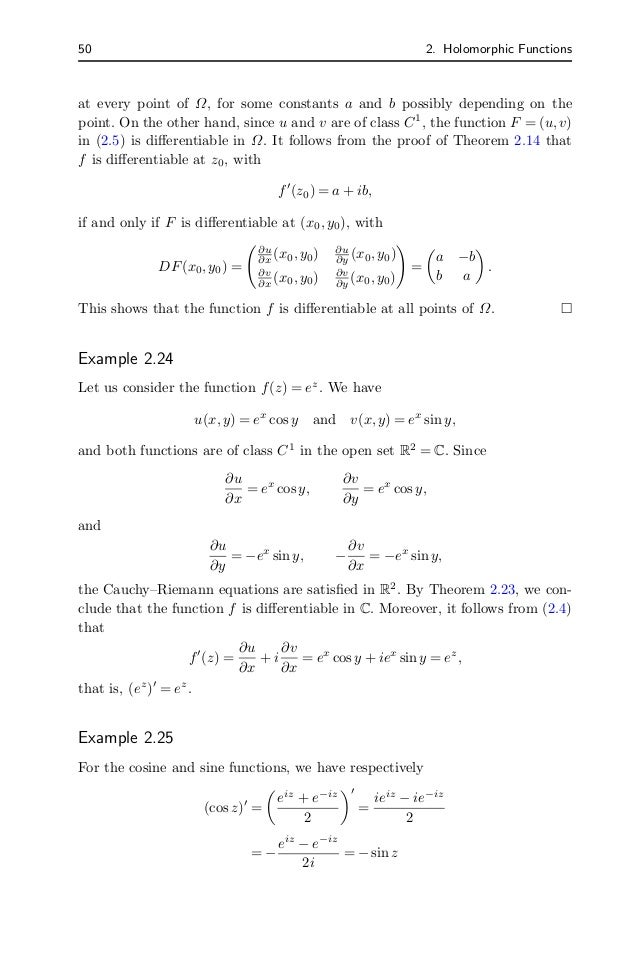 Complex analysis and differential equation