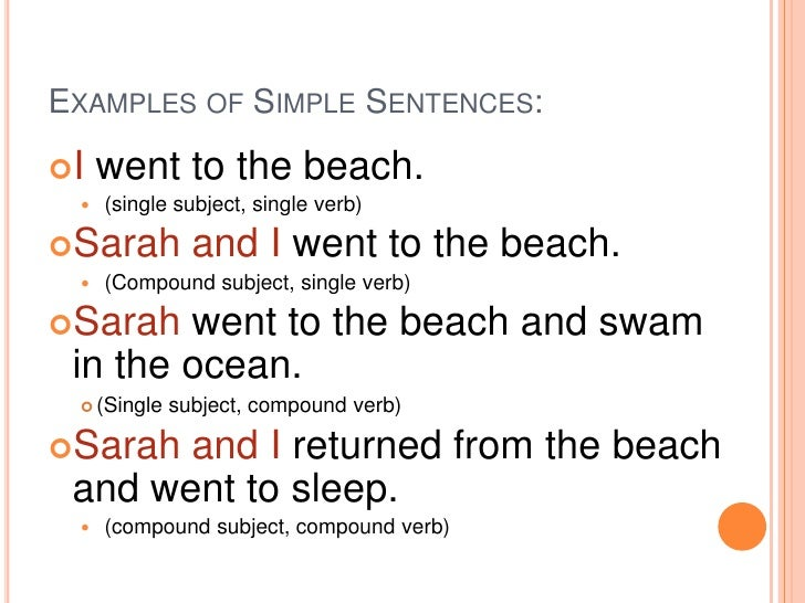 simple complex compound sentences