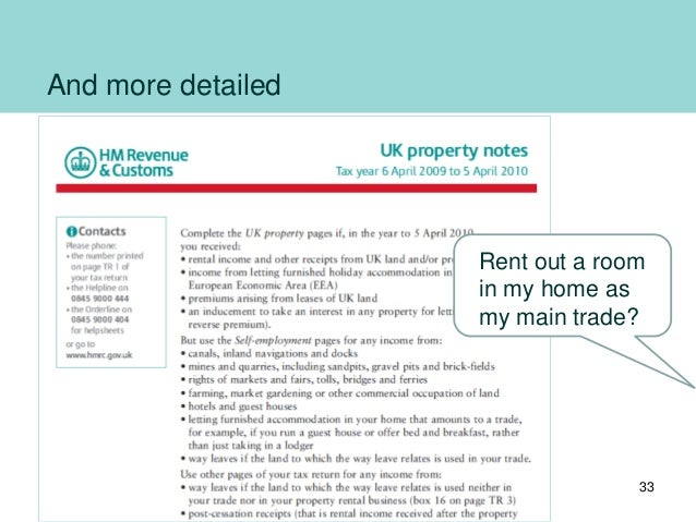 And more detailed Rent out a room in my home as my main trade? 33