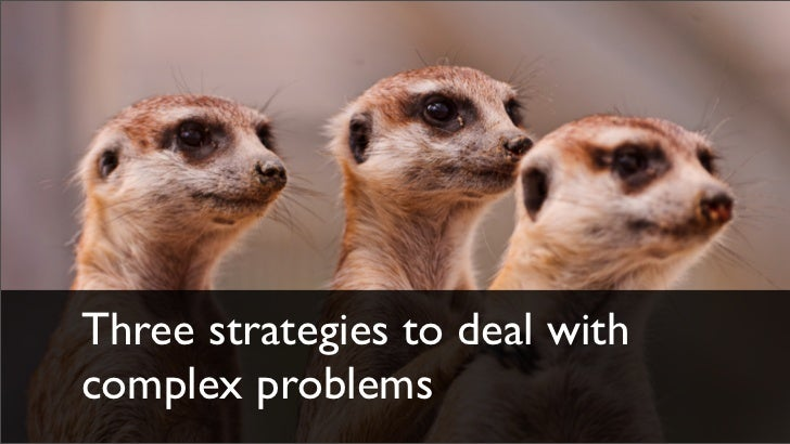 Three strategies to deal withcomplex problems