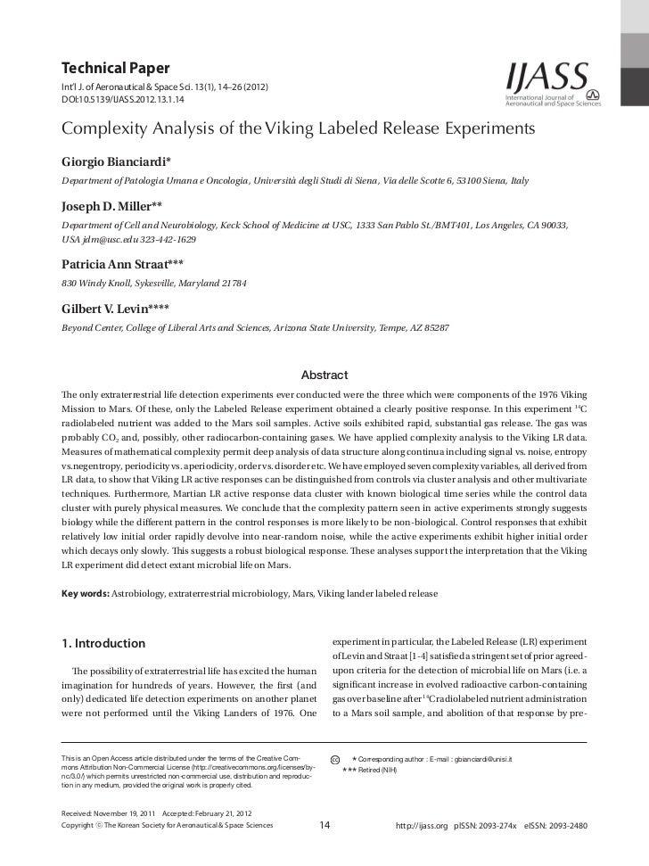 Technical PaperInt'l J. of Aeronautical & Space Sci. 13(1), 14–26 (2012)DOI:10.5139/IJASS.2012.13.1.14Complexity Analysis ...