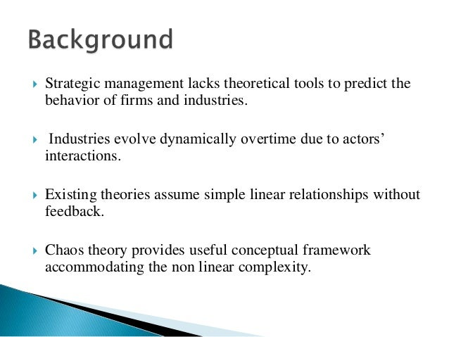 management theory and application Frederick taylor (1917) developed scientific management theory (often called   the most important aspect of simon's work was the rigorous application of the.