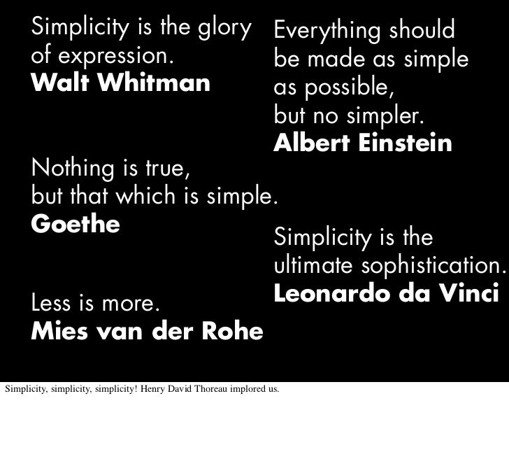 The Complexity of Simplicity Slide 2