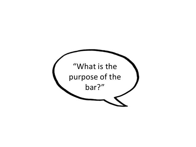 """What is the purpose of the bar?"""