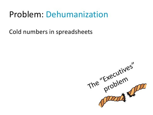Problem: Dehumanization Cold numbers in spreadsheets