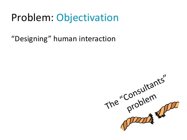 "Problem: Objectivation ""Designing"" human interaction"