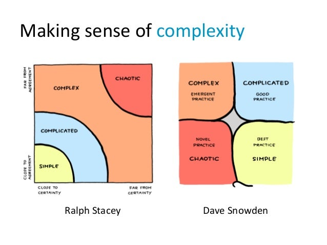 Making sense of complexity Ralph Stacey Dave Snowden