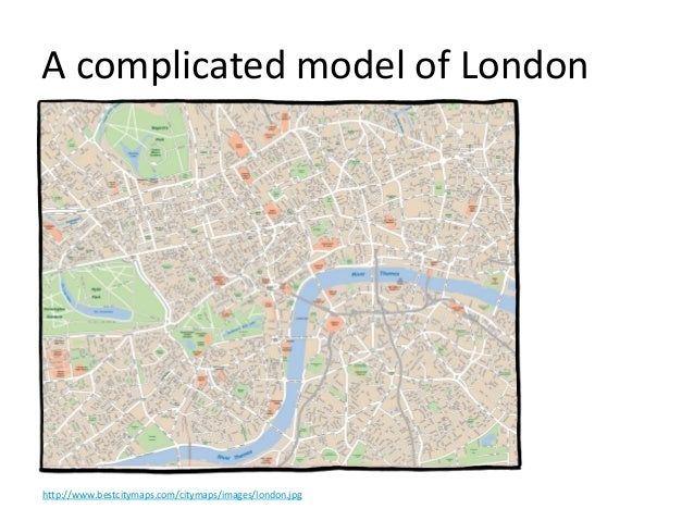 A complicated model of London http://www.bestcitymaps.com/citymaps/images/london.jpg