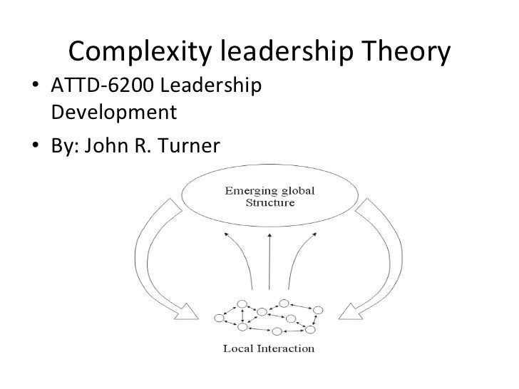 Complexity	  leadership	  Theory	  •  ATTD-­‐6200	  Leadership	     Development	  •  By:	  John	  R.	  Turner