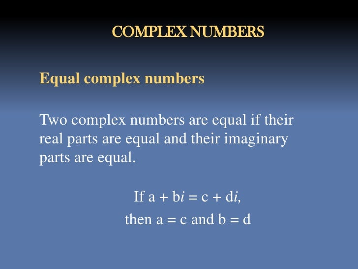 Complex Numbers Org Ppt
