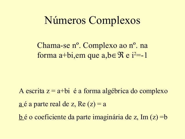 Números Complexos Resumo
