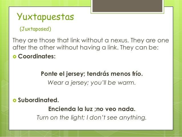 Complex sentences in spanish