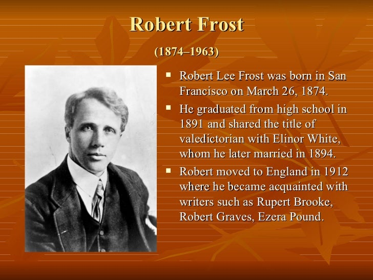 robert lee frost essay Description and explanation of the major themes of frost's early poems frost's early poems robert frost contents context summary themes, motifs & symbols.