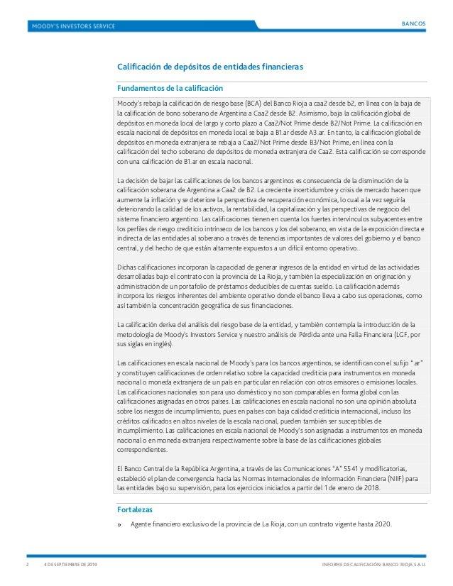 Informe Banco Rioja
