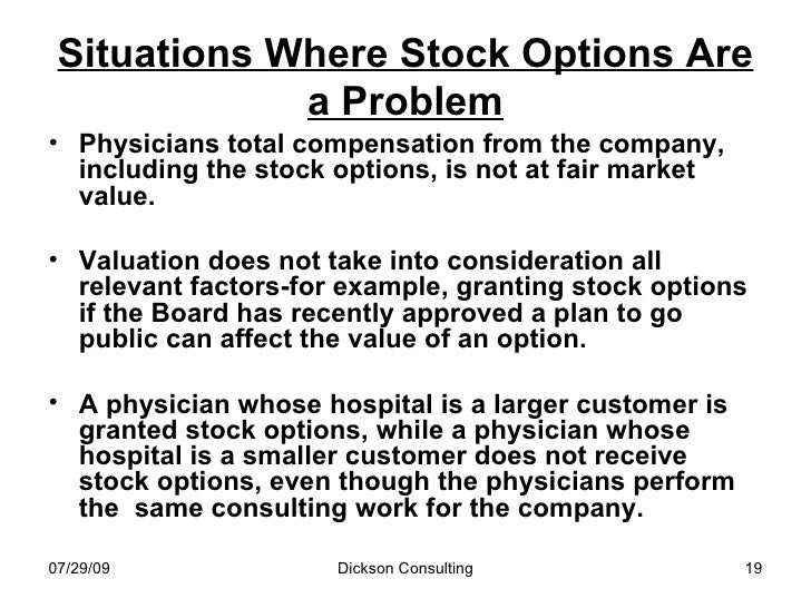 Fmv stock options