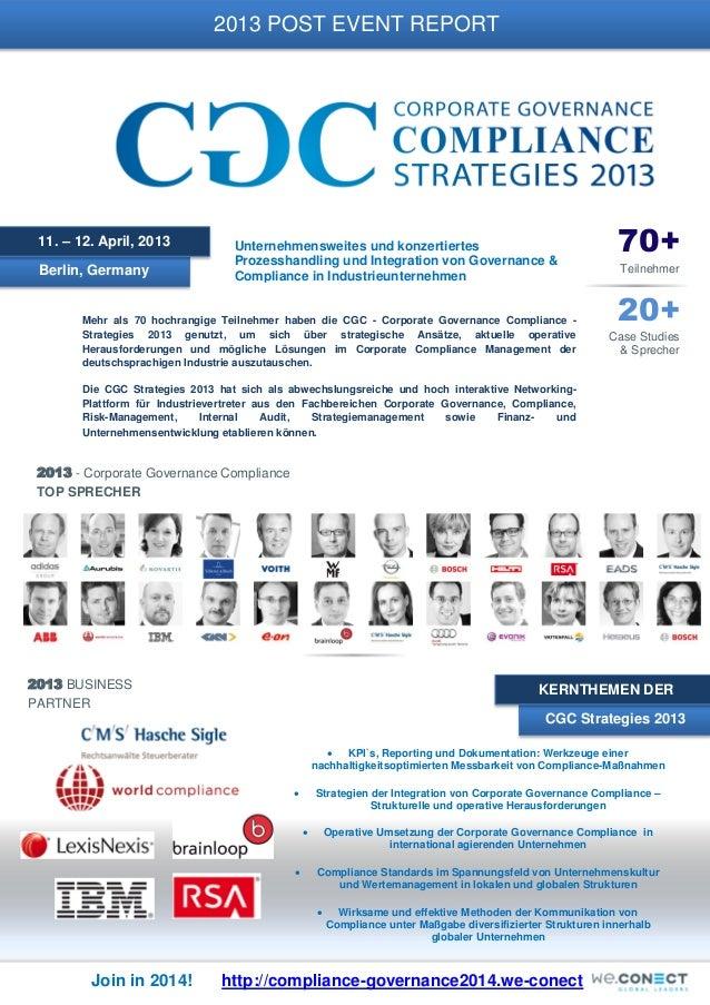 2013 POST EVENT REPORT  11. – 12. April, 2013 Berlin, Germany  Unternehmensweites und konzertiertes Prozesshandling und In...