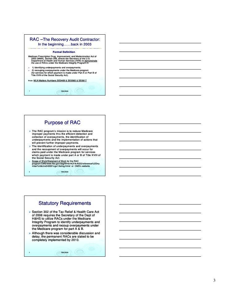 Rac Appeals Webinar For Healthcare Execs