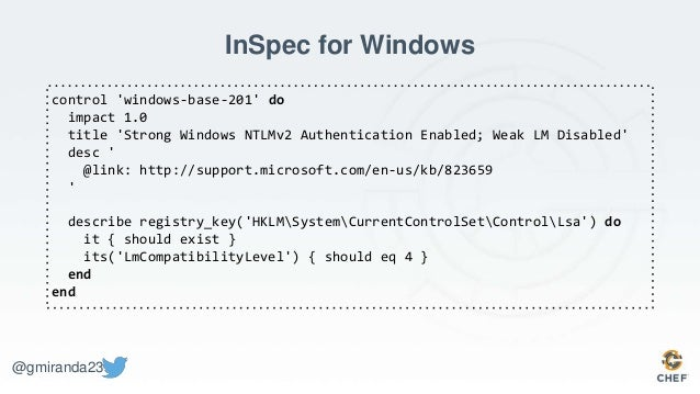 Compliance as Code - Using the Open Source InSpec testing