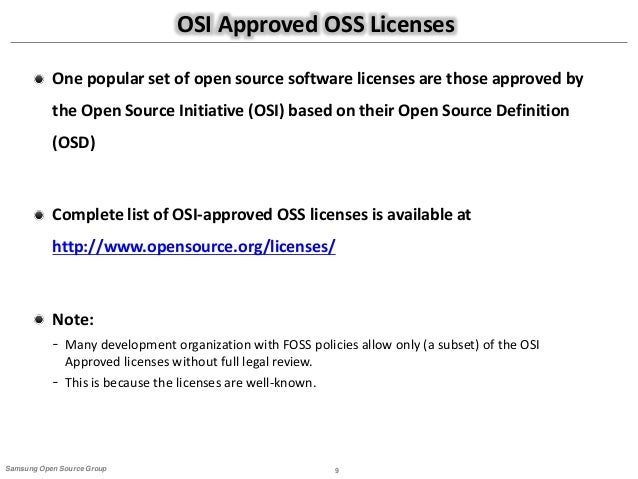 guide to open source compliance rh slideshare net Android Open Source License Open Source License Python R