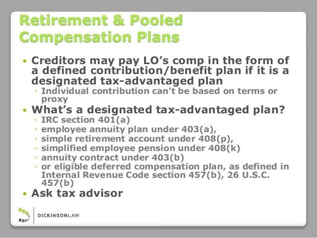 Eligible Deferred Compensation Plans Under Section 457 ...
