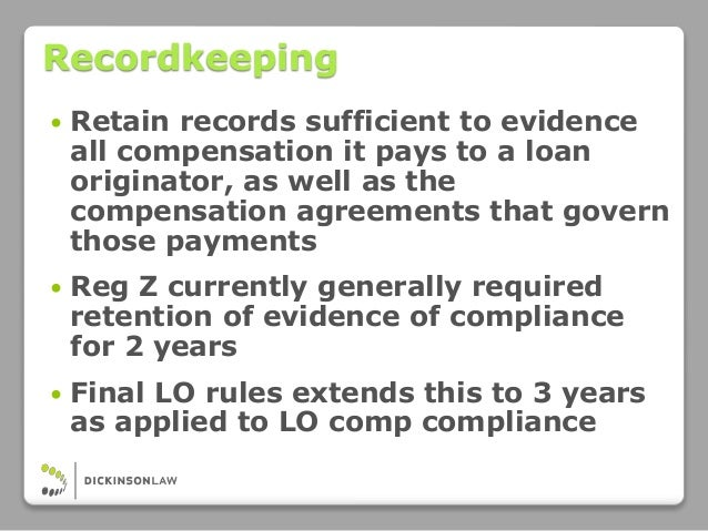 Compliance Counsel on Command: CFPB Loan Originator ...