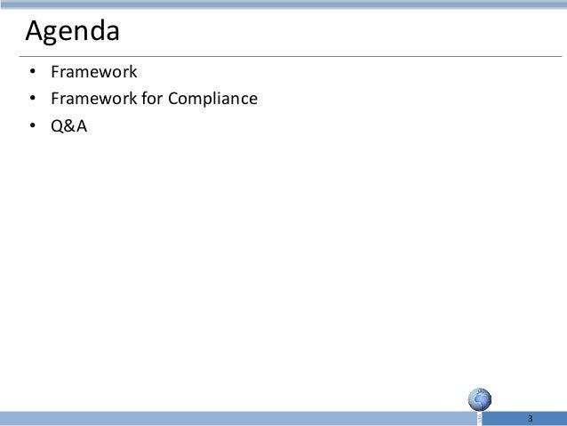 Compliance framework Slide 3
