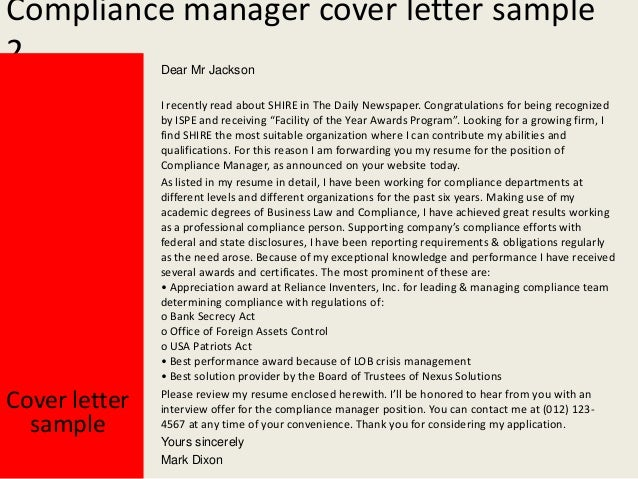 Great Compliance Manager ...