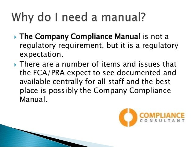 Regulatory Compliance Risk Manual Presentation