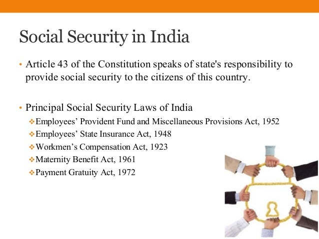 Importance of social security in india