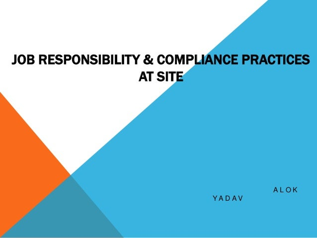 JOB RESPONSIBILITY & COMPLIANCE PRACTICES AT SITE A L O K Y A D A V