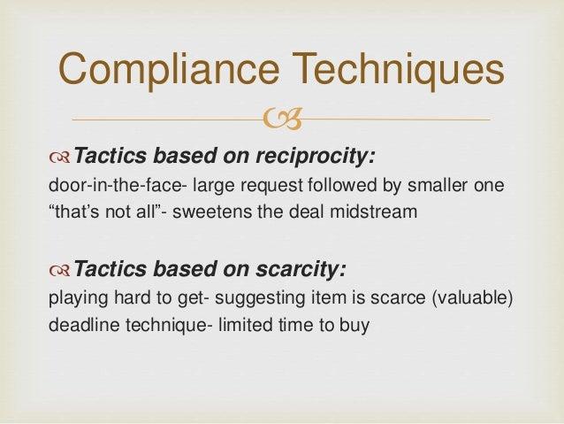 Compliance Technique In Psychology