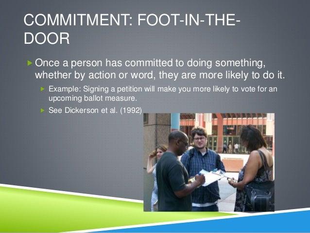Psychology and foot in the door tactic