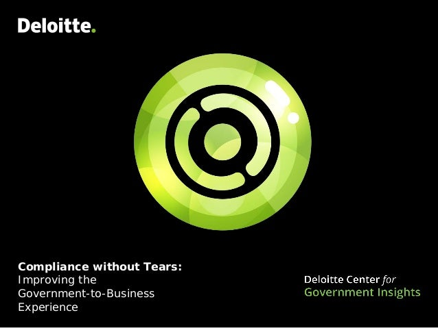 Compliance without Tears: Improving the Government-to-Business Experience